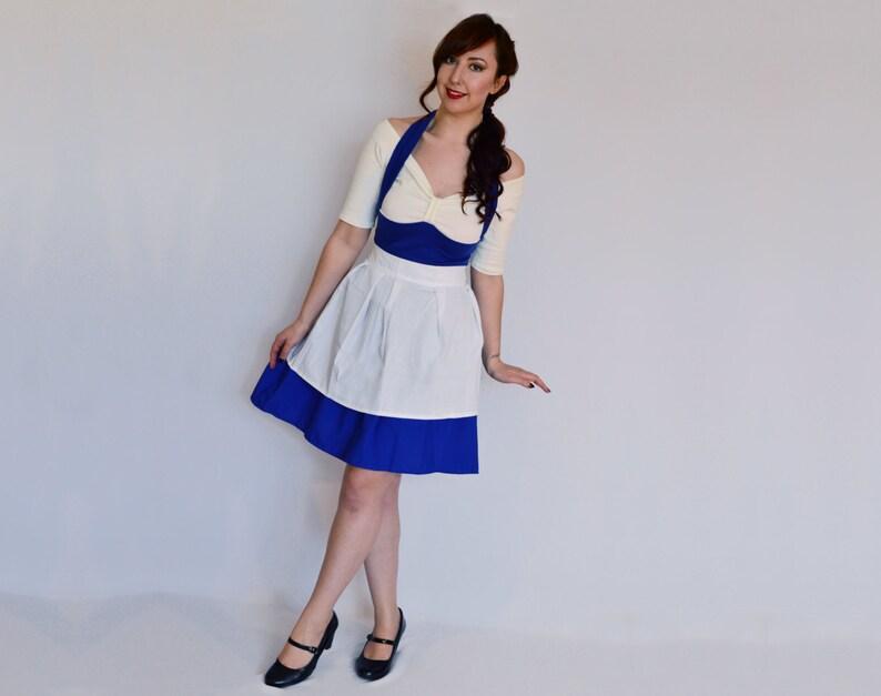 64d8f2cb6e Blue Belle Dress Disneybound Dress Blue Costume