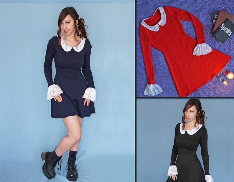 3a039ff01a Weird Sisters Dress Long Sleeve Dress Peter Pan Collar