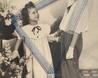 Photo brodée juliette et george