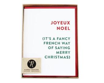 Holiday card set christmas cards boxed set funny christmas etsy merry christmas card boxed set holiday cards boxed set joyeux noel christmas cards funny christmas cards m4hsunfo