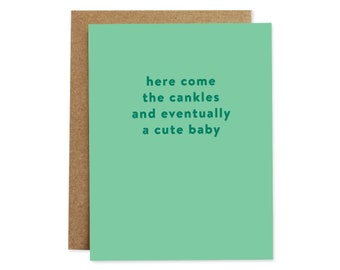 Funny Baby Card, Funny Pregnancy Card, Pregnancy Card, Baby Shower Card, New Baby Card, Card for Her, Card for Friend