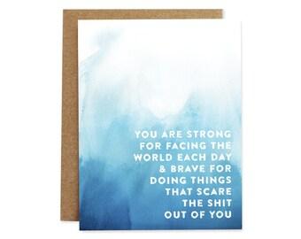 encouragement cards etsy