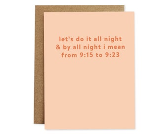 Funny Anniversary Card, Funny Love Card, Card for Husband, Card for Him, Funny Greeting Card, Humour Card, Funny Sex Card
