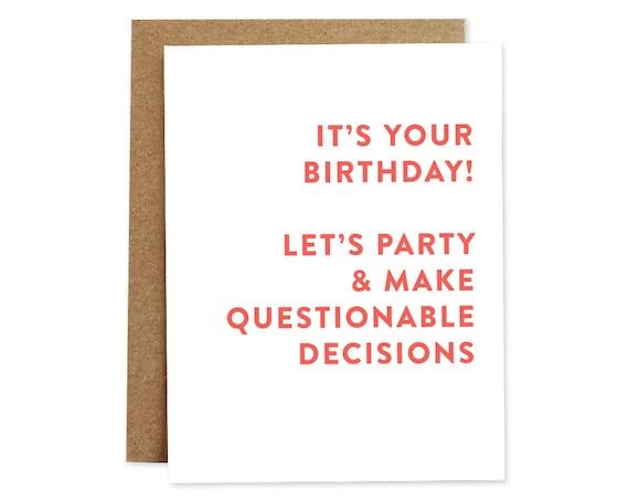 Funny Birthday Card Happy Birthday Card Birthday Card For Etsy