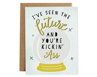 Funny Graduation Card, Encouragement Card, Graduate Card, Grad Card, New Job Card, Friendship Card, Funny Card, Humor Card