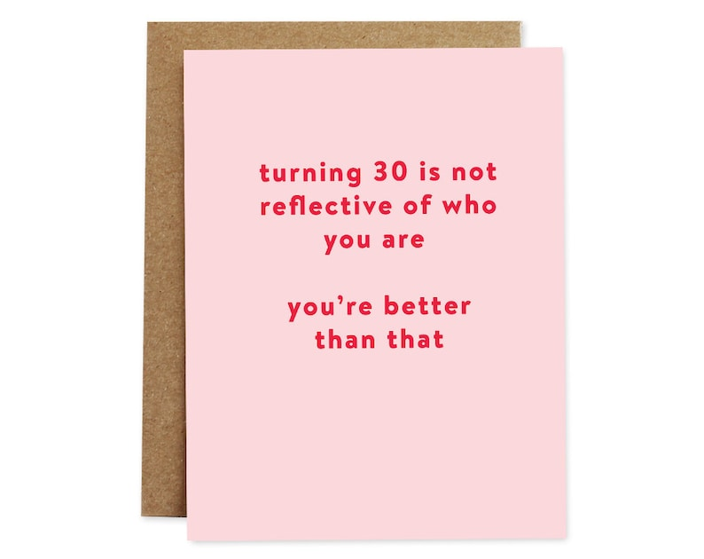 Funny Birthday Card 30th 30