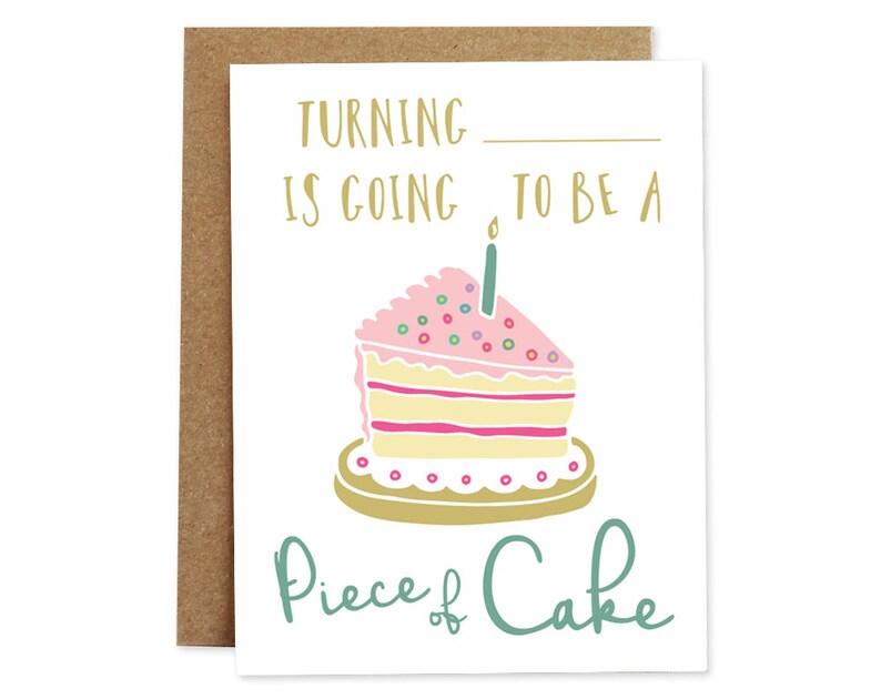 Happy Birthday Card Cute Cake