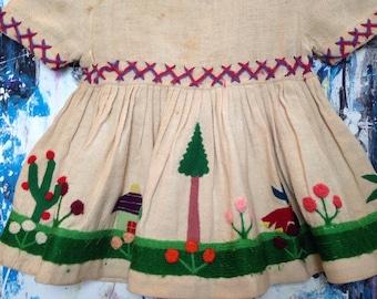 Vintage Children's Embroidered Dress