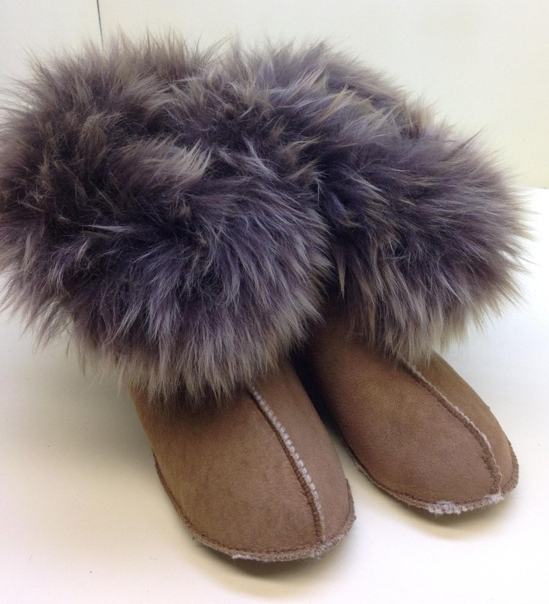 0837e31313084 shearling Highlander boot slipper
