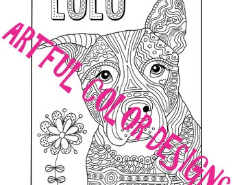 Dog Coloring Page Printable Download For Lovers Of All Ages