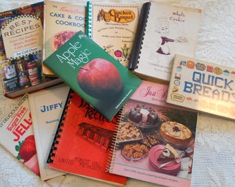 10 Vintage Cookbooks All Kinds Desserts  Variety Foods Great Collection A