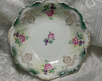 Vintage Roses Germany Vegetable Serving Bowl