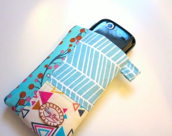 Blue and Pink Triangles Phone Sleeve