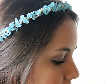 Lilly of the Valley Floral Crown, Flower crown, Something Blue, Flower hair Crown, Wedding, Bohemian, Bridal Headpiece