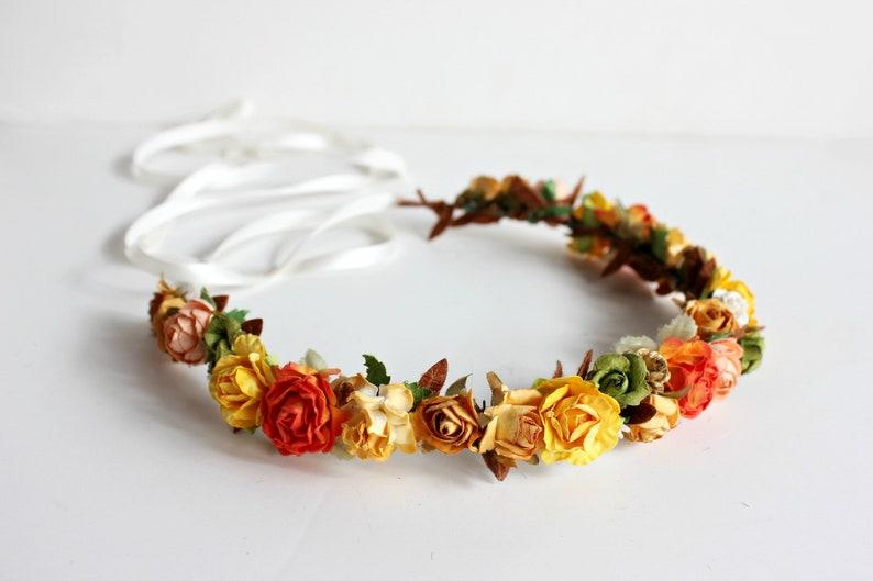 Autumn Floral Crown. Festival Crown Boho crown Bridal fall image 0