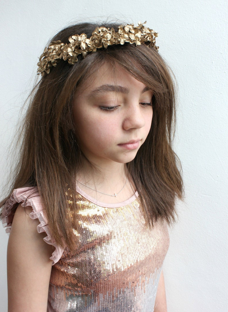 Gold Floral Headpiece Gold Flower Crown gold floral crown image 0