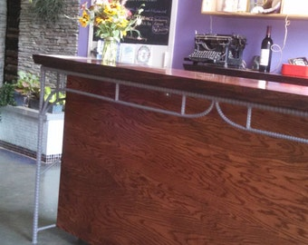 Rustic Industrial Custom Bar Rebar Furniture