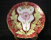 Antique Art Nouveau Plate one of the seldom Nymphenburg Poppy flower Plates rare pattern 599 from the World Exposition Paris 1900