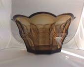 Vintage Art Deco Hand cut Art Glass one of the rare Crown Bowls by famous Ludwig Moser Karlsbad around 1920s