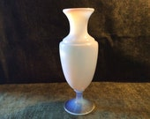 Vintage French Art Glass one of the famous Sevres France Crystal Opaline Vase with nobles Timeless Art Deco Body early 1920s