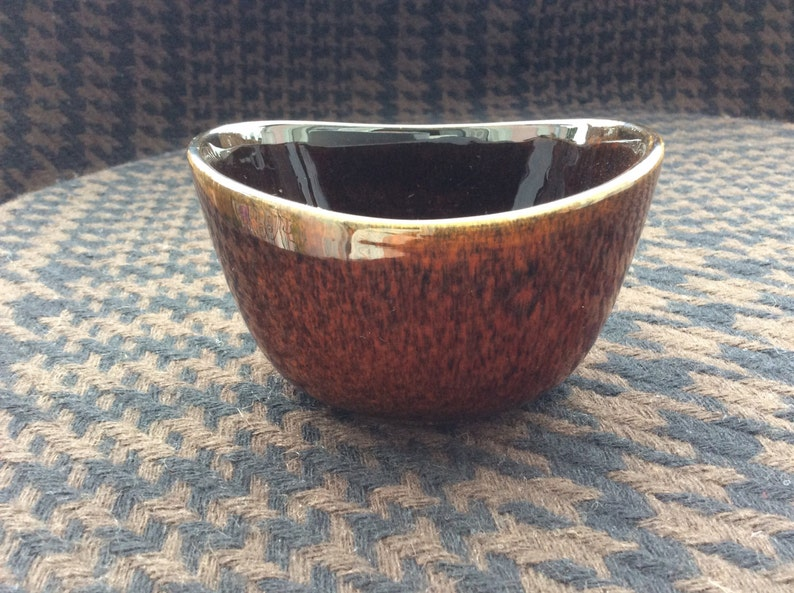 Vintage Scandinavian Art Pottery  a KASKAD Bowl by artist Berit Ternell for Upsala Ekeby Gefle Sweden 1960s