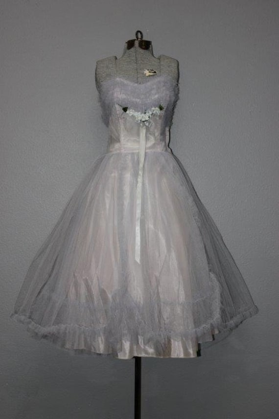 Fabulous 1950's Tulle Prom Dress