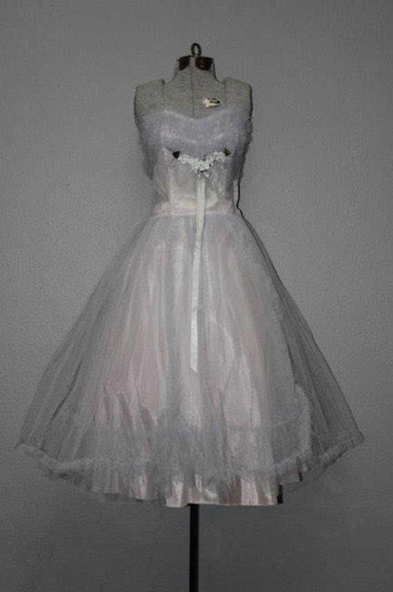Fabulous 1950's Tulle Prom Dress - image 1