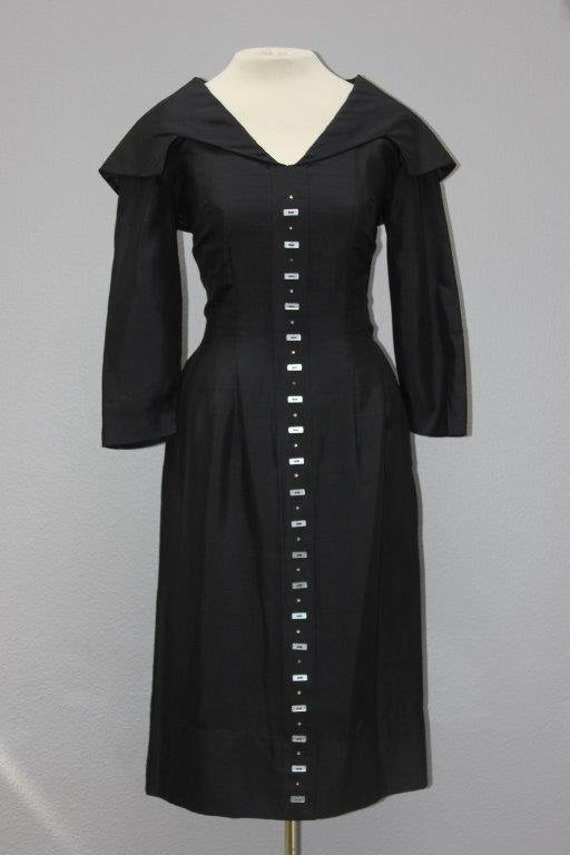 Awesome Vintage Black Cocktail Sheath Dress