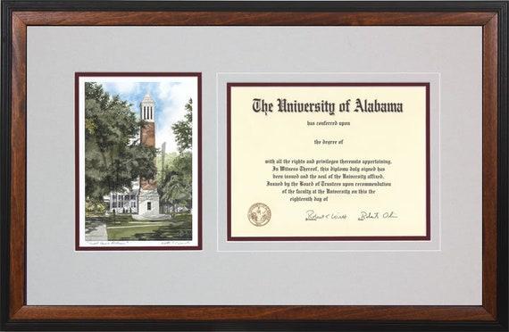 University of Alabama Diploma Frame | Etsy