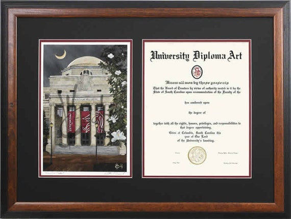 University of South Carolina Diploma Frame | Etsy