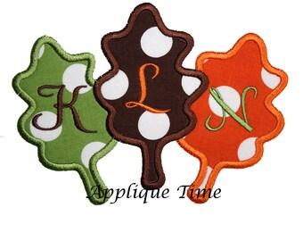 Instant Download Oak Leaf Trio Machine Embroidery Applique Design 4x4, 5x7 and 6x10