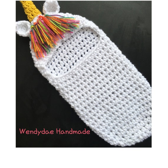 Crochet Pattern Unicorn Newborn Swaddle Cocoon Photo Etsy