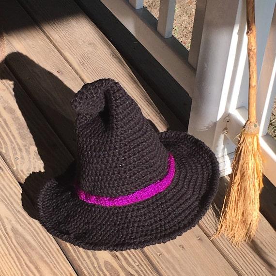 Kostüm Hexen Hut Kind oder Erwachsener häkeln hergestellt | Etsy