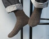 hand knitted socks, wool men's socks, 4 colors, socks, Men's knitted socks, Winter men's socks, Wool men's socks, brown socks MADE TO ORDER
