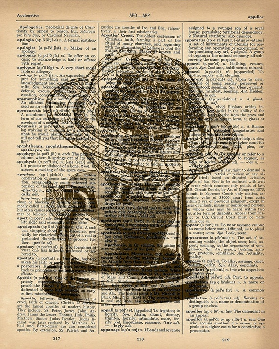 """Dictionary Page Art /'Keep Calm and Read On/' 8.5/"""" X 11/"""" Framed book page print"""