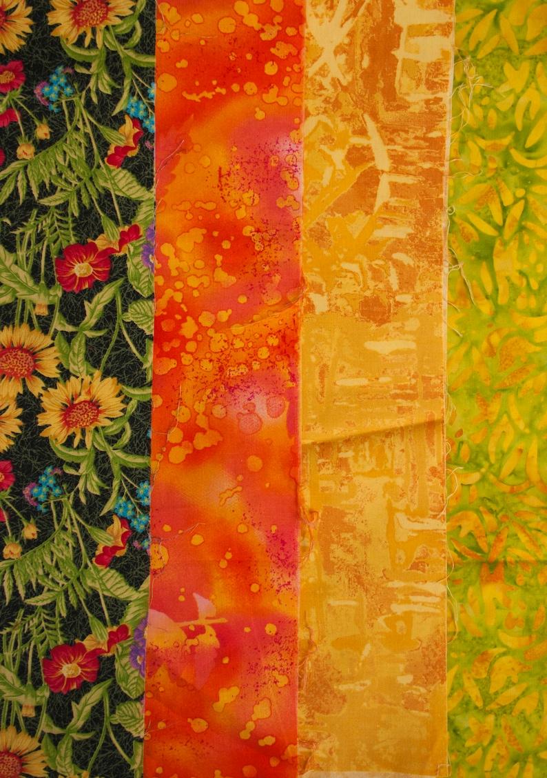 857a4230e03b Bundle of Fabric Four Pieces Three 3 Batik Summer Tones