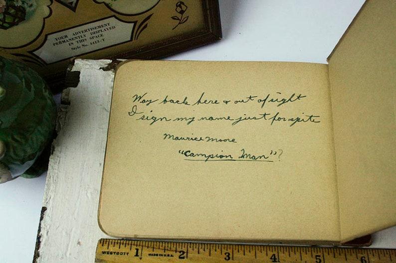 Stage Movie Prop 1944 WWII Era Student Handwriting High School Autograph Book