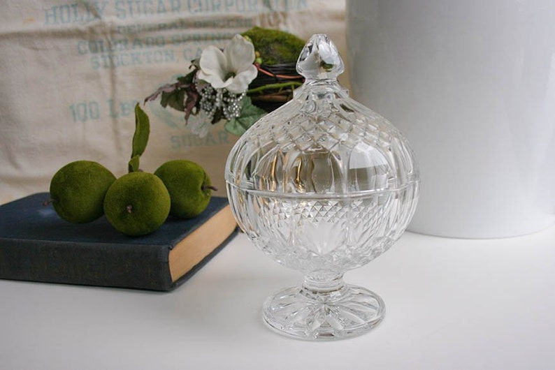 Antiques Clear Glass Candy Dish Decorative Arts