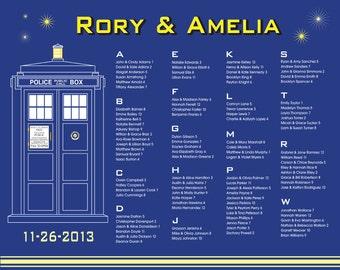 Doctor Who TARDIS - Printable Custom Wedding Seating Chart