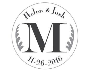Personalized Wedding Monogram Logo Labels
