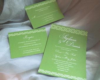 Decorative Elements / Tiles - Printable Wedding Invitation, DIY Print-at-home Set