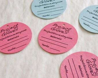 Set of 20 CUSTOM Shop Product Tag - Circle Die Cuts
