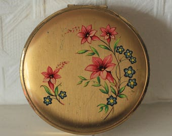 Vintage Mirror Powder Compact