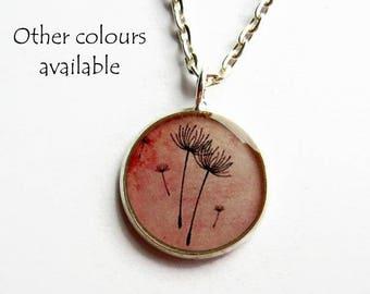 Dandelion Necklace - Make a Wish Necklace - Dandelion Jewellery - Dandelion Pendant - Gift for Mum - Petite Jewelry - Everyday Necklace