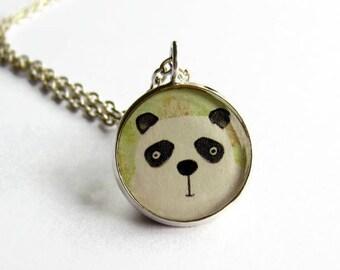 Panda Necklace - Panda Bear Pendant - Bear Jewelry - Animal Jewellery - Cute Gift for Her - Resin Jewelry - Small Pendant