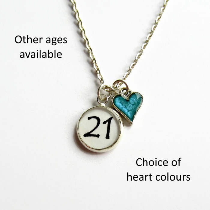 21st Birthday Charm Necklace 18th Birthday Gift For Her
