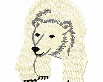 512a1df837a3f Polar Bear Machine Embroidery Design - Instant Download