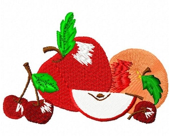 Assorted Fruit Embroidery Design - Instant Download