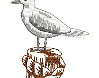 Sea Gull Machine Embroidery Design - Instant Download