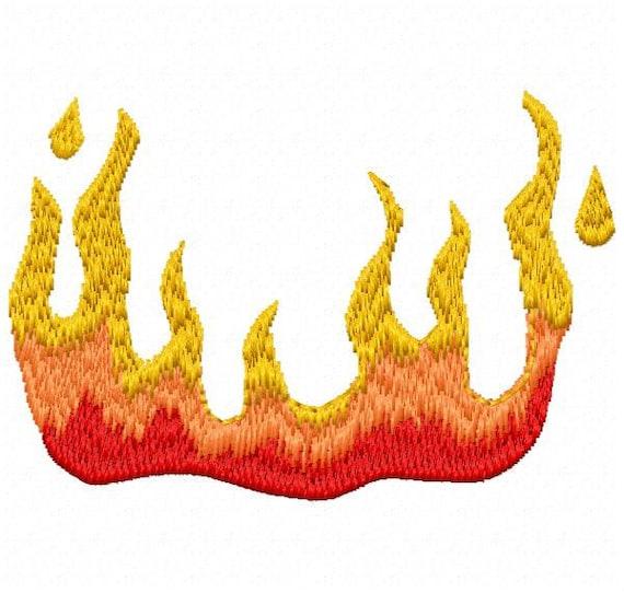 Motif de broderie Machine flammes - téléchargement immédiat